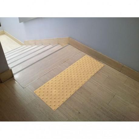 Dalle podotactile auto-adhésive Watelin intérieure beige 445 x 400 mm