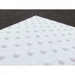 Dalle podotactile thermocollante VULCANO blanc 40 x 60 cm