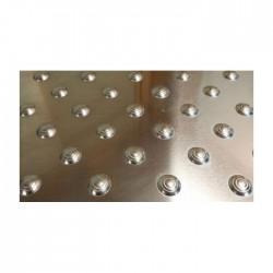 Dalle podotactile SEBALU en aluminium brut 600 x 412 mm