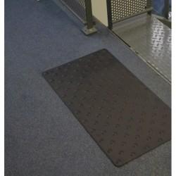 Dalle Podotactile TOLPLOT en aluminium anodisé noir 800 x 420 mm