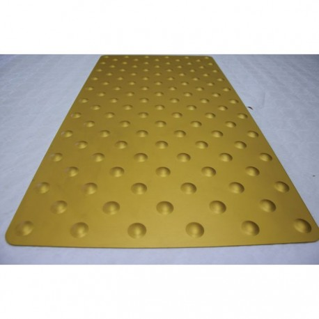 Dalle Podotactile TOLPLOT en aluminium anodisé or 800 x 420 mm