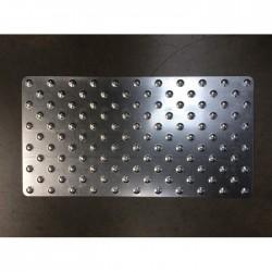Dalle podotactile TOLPLOT en acier galvanisé 800 x 420 mm