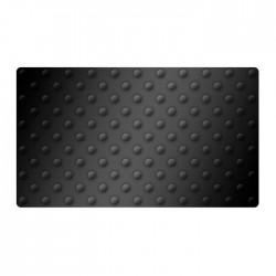 Lot de 2 dalles podotactiles en caoutchouc noir 420 x 800 mm 1,2kg