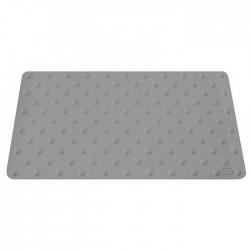Lot de 2 dalles podotactiles en caoutchouc gris 420 x 800 mm 1,2kg