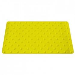 Lot de 2 dalles podotactiles en caoutchouc jaune 420 x 800 mm 1,2kg