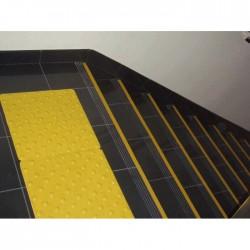 Dalle Podotactile en Caoutchouc pour Intérieur PASDAL jaune 450 × 412 mm