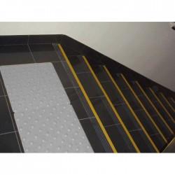 Dalle Podotactile en Caoutchouc pour Intérieur PASDAL gris clair 450 × 412 mm