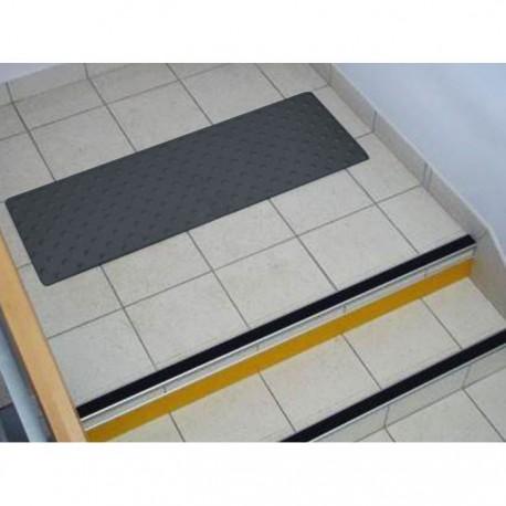 Dalle Podotactile en Caoutchouc pour Intérieur PASDAL gris foncé 450 × 412 mm
