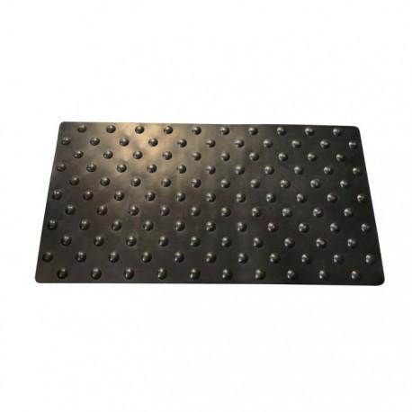 Lot de 2 dalles podotactiles en caoutchouc noir 420 x 800 mm 1,5kg