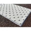 Dalle podotactile granulat minéral blanc cassé 600 x 412 mm