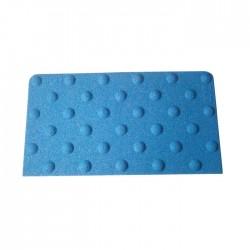 Dalle podotactile minérale avec adhésif épais bleu 412 x 600 mm
