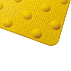 Dalle podotactile en résine avec adhésif épais jaune 412 x 600 mm