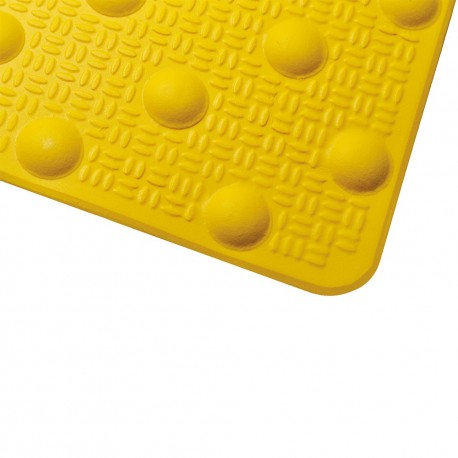 Dalle podotactile en résine avec adhésif épais jaune 600 x 825 mm
