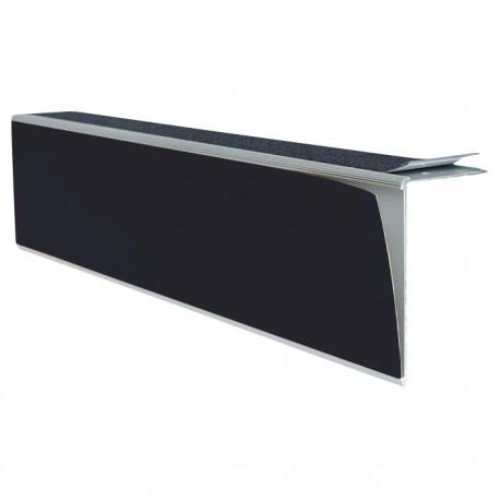 Repérage de contremarches 4 en 1 auto-adhésif pour intérieur noir longueur 3 m