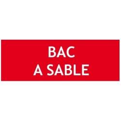 "Panneau "" BAC A SABLE"""