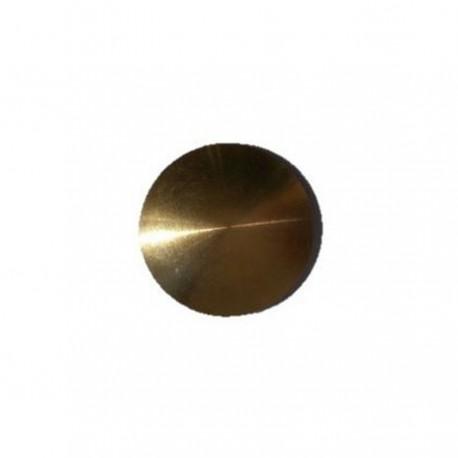 Lot de 150 Plots podotactiles avec adhésif épais - Laiton brut lisse Ø 25 mm