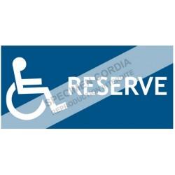 Picto réservé handicapé PVC 2mm