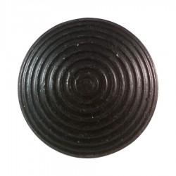 Lot de 250 plots podotactiles en acier zingué noir antico coller