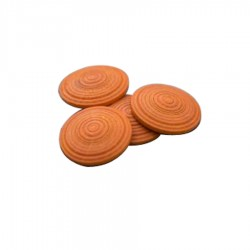 Lot de 80 plots podotactiles en bois COLORWOOD orange