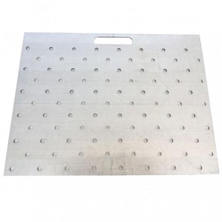 Gabarit de perçage acier pour clous podotactiles 600 x 412 mm