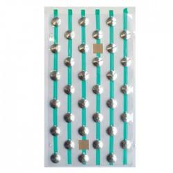 Plots podotactiles PODOKIT en aluminium strié auto-adhésifs en 1 plaque