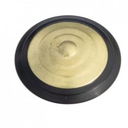 Plots podotactiles PODOKIT laiton pourtour polymère noir auto-adhésifs en 4 plaques