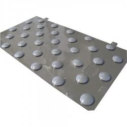 Plots podotactiles PODOKIT thermoplastiques gris auto-adhésifs en 1 plaque