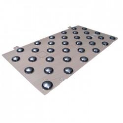 Plots podotactiles PODOKIT auto-adhésifs mixte thermoplastique et inox