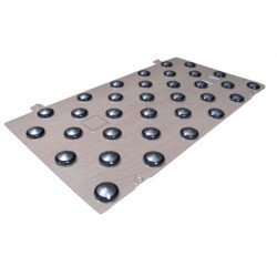 Plots podotactiles PODOKIT mixte thermoplastiques et inox auto-adhésifs en 1 plaque