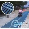 Tapis d'accès enroulable bleu 1,98 x 25 m