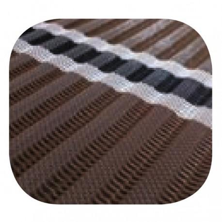 Tapis d'accès enroulable brun 1,98 x 15,2 m