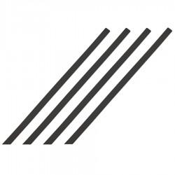 Bande d'aide à l'orientation pour intérieur barrette noir 1000 x 30 mm