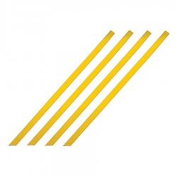 Bande d'aide à l'orientation pour intérieur barrette jaune 1000 x 30 mm