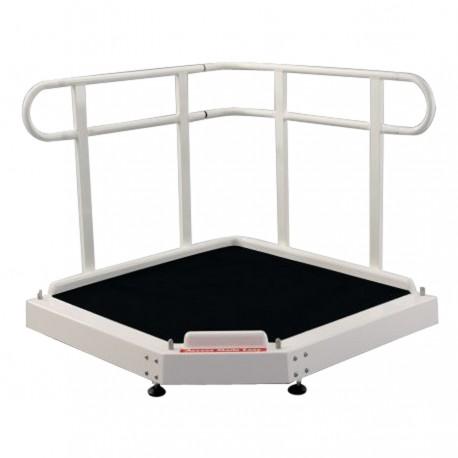 Plateforme rampe d'accès 90 ° 1240 mm