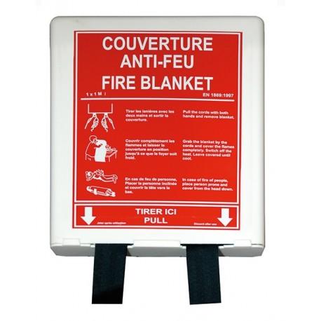 Couverture anti–feu 1m x 1m – Boitier PP