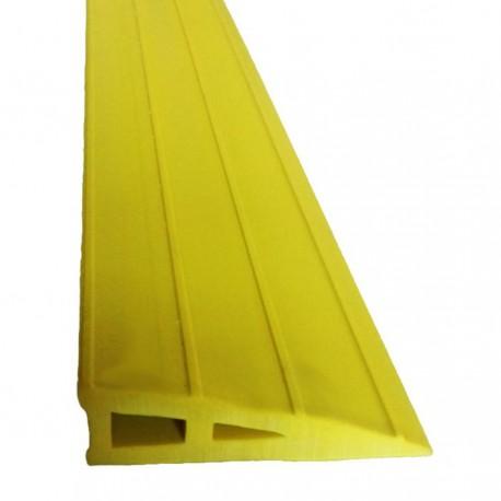 Rampe d'accès auto-plombante en caoutchouc GUMKA jaune 30 mm