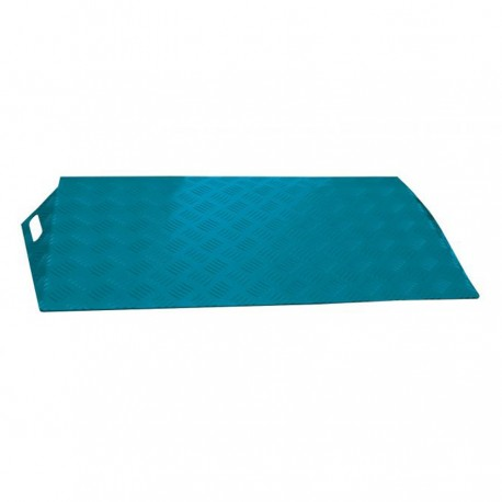 Rampe de seuil en aluminium ALUCOLOR bleu 540 mm