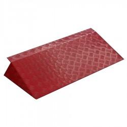 Rampe de seuil en aluminium ALUCOLOR rouge 340 mm