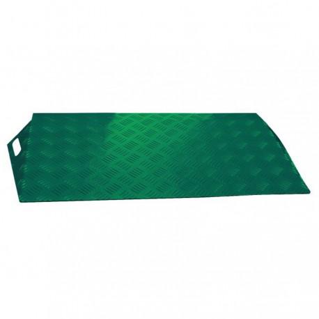Rampe de seuil en aluminium ALUCOLOR vert 540 mm