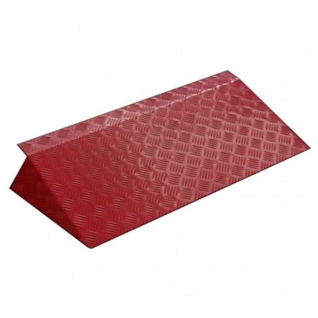 Rampe de seuil en aluminium ALUCOLOR rouge 540 mm